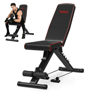 Weight Bench Adjustable Lifting Workout Chest Press Heavy Duty Home Gym Foldable