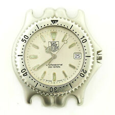 TAG HEUER LINK S99.006M PROF OLIVE DIAL S.S. 200M WATCH HEAD FOR PARTS/REPAIRS
