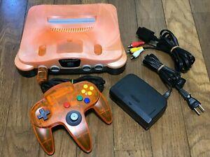 Nintendo 64 Daiei Hawks Console Controller Clear Orange & Black N64