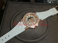 Harry Winston Ocean Lady Moon Phase 36mm Rose Gold On Rubber 400/UQMP36RC.MKDO