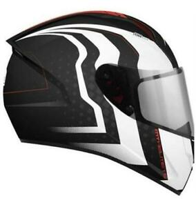 MT Stinger Warhead Black White Red Helmet