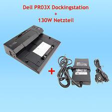 Dell PR03X Dockingstation + 130 W Netzteil + Stromkabel für Latitude E-Serie