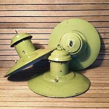 Industrial GREEN ENAMEL SHADE Pendant Light Shabby Chic Lamps