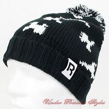 REEBOK bonnet D'Hiver avec pompon tricot norvégien en laine de ski