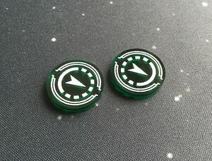 X-Wing 2.0 compatible, acrylic reinforce tokens - translcent series