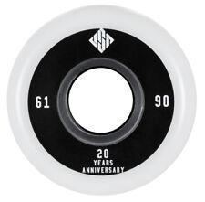 4 USD Team Wheels Stunt Skate Rollen 61mm 90A NEU