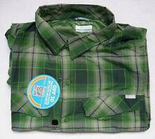 New Columbia Men's XL Silver Ridge Button Roll L/S Omni-Shade Green Plaid Shirt