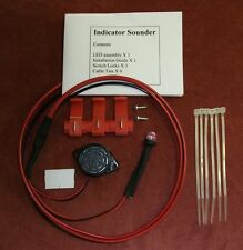Motorbike Ulatra Bright RED  LED AND BUZZER  Indicator Warning Device +ve EARTH