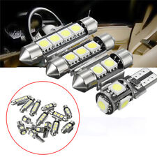 14x White Interior LED Light Kit Energy Saving Universal Car License Trunk Lamp