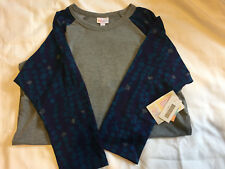 LuLaRoe ~ Grey and Blue sleeves ~ Randy ~ Size Large ~ New with tags
