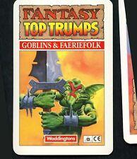 Title Card - Goblins & Faeriefolk Waddingtons Fantasy Top Trumps Card (C1163)