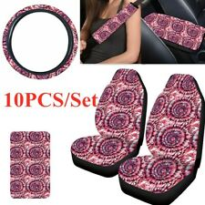 10Pack/Set Car Seat Cover Steering Wheel Cover Seat Belt Armrest Pad