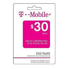 T-Mobile $30 Refill -- Loaded Directly.