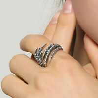 925 Sterling Silver Hawk Claw Ring Open Ring Adjustable Band Love Jewelry Unisex