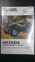 New Clymer Honda Service Manual TRX400 Foreman 1995-2003 M459-3