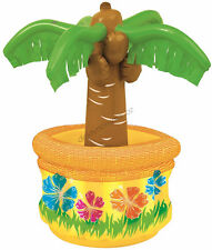 Inflatable Palm Tree Cooler 66cm Tropical Hawaiian Luau Beach Party Decoration