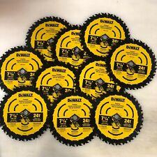 10 hojas de paquetes Dewalt 7 1/4 Sierra Circular 24 T encuadre DWA171424 Nuevo envío 2 día