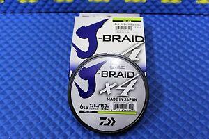 DaiwaJ-Braid X4U 6-135Y Flourescent Yellow 6lb 150yd 4000-2001