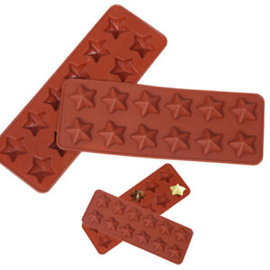 12 Cell Star Chocolate Silicone Mould Candy Cake Wax Melt Resin Ice Baking Molds