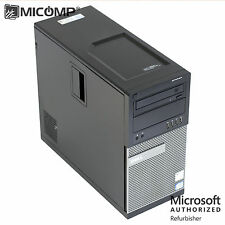 Fast Dell 990 Tower Computer PC Core i7 3.4Ghz 16GB RAM 500GB HDD Windows 10 64