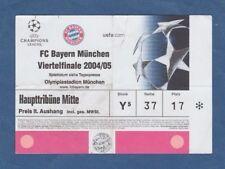 Orig.Ticket  Champions League  2004/05  BAYERN MÜNCHEN - CHELSEA FC  1/4 FINALE