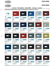 2003 BMW (CAR) PAINT CHIPS (DUPONT)