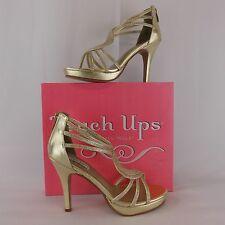 TOUCH UPS BY BENJAMIN WALK WOMEN GOLD PLATFORM SANDAL 10 M AL652