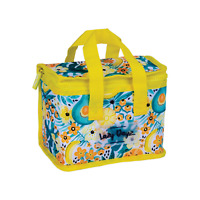 Lunch Cooler Bag YELLOW Tote Easy Carry Picnic Food Storage Thermal Fold Office