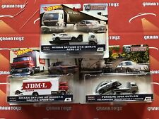 Set of 3 2019 Hot Wheels Car Culture Team Transport Mix E Nissan Porsche #8 #...