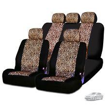 New Semi Custom Animal Cheetah Print Car Truck Seat Covers Full Set For Toyota