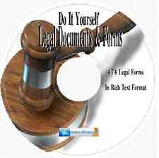 Do It Yourself Legal Forms 400 + Forms Business Agreement,Legal Utilities CD