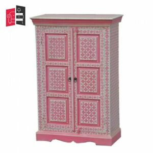 Pandora Hand Painted Cabinet Pink Geometry (MADE TO ORDER)