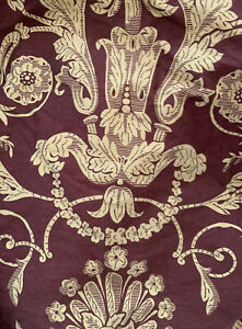CROWN CRAFTS ROYAL SATEEN by Kitan Burgundy Gold Floral BEDSKIRT ~ QUEEN
