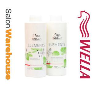 WELLA Elements Lightweight Renewing Shampoo and Conditioner 1000ml