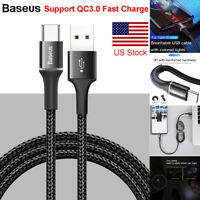 Baseus Type-C USB Type C Fast Charging Sync Cable Samsung Galaxy S10 S9 8 A50/30