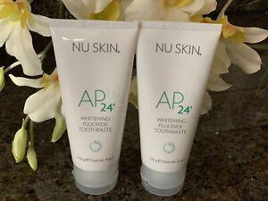 Nu Skin nuskin Authentic AP-24 Whitening Fluoride Toothpaste-2 Tubes-Exp 02/2023