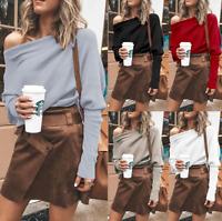 Women Dolman Sleeve Off Shoulder Slim Fit Casual Fashion Solid Color Shirt Tops