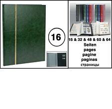 Look 158 Green A4 Stamp Album Stockbook stock album 16 Black Pages