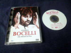 DVD Andrea Bocelli A Night In Tuscany PISA LIVE +Song Videos Time To Say Goodbye