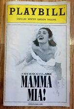 MAMA MIA Playbill -NYC Broadway Cadillac Winter Theater - June 2006