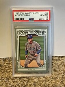 2013 Topps Gypsy Queen #11 - ANTHONY RIZZO - PSA 10 Gem Mint - CUBS