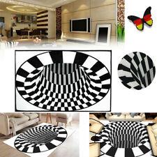 3D Vortex-Illusion Vorleger Teppich Pad Rutschfeste Fußmatte Rechteckige Polster