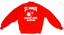 Vintage Quilted Jacket WestArk ST. Marie Bowling Lanes Montana Size L USA made