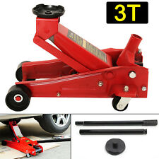 3 Ton Quick Lift Hydraulic Trolley Floor Jack Car Caravan Jeep Lifting Van Set