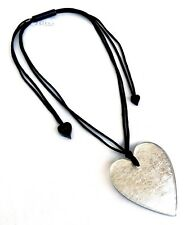 ZSISKA New HEART Collection WONDERFUL 'Silver Leaf' Pendant Necklace