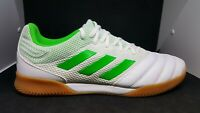Adidas Copa 19.3 Indoor Sala white green Indoor Soccer Shoes  BC0559