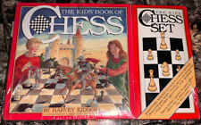 Vintage 1990 The Kids Book of Chess by Harvey Kidder Chess Set And Book New