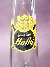 vintage ACL Soda POP Bottle: black & gold HOLLY of YOUNGSTOWN, OHIO - 7 oz ACL