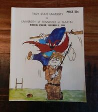 1969 TROY STATE VS TENNESSEE MARTIN COLLEGE FOOTBALL PROGRAM GREAT COVER NICE