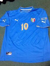 ITALY 2003 TOTTI PLAYERS ORIGINAL JERSEY w/ MATCH DETAILS !